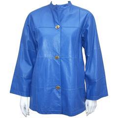 c.1970 Bonnie Cashin Mandarin Style Leather Jacket