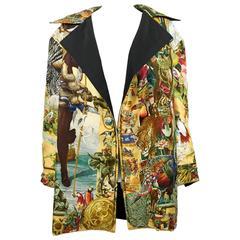 Hermes Les Ameriques Scarf Print Reversible Jacket - 1990s