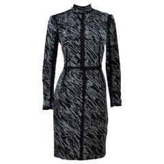 PROENZA SCHOULER Black & White Contrast Wool Dress Size 8