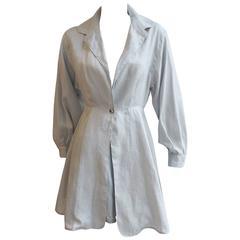 CLAUDE MONTANA Linen Tunic with Matching Crepe Shorts Ensemble