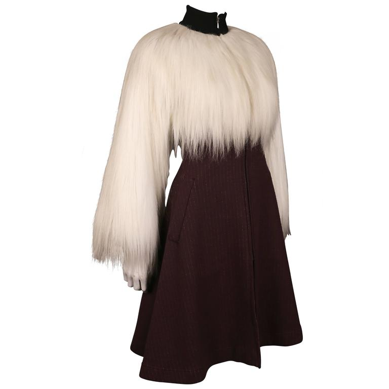 Jean Paul Gaultier faux fur dress coat, c. 1993 1