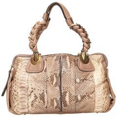 Chloe Brown Python Heloise Hand Bag
