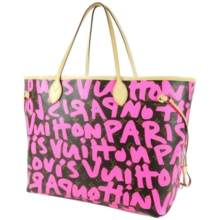 364be623f10e9 Louis Vuitton by Marc Jacobs Pink Graffiti Neverfull GM Bag at 1stdibs