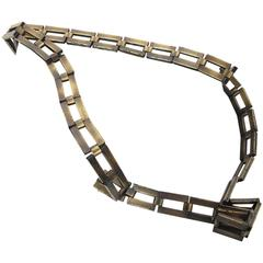 Chanel Brass Square Link Belt