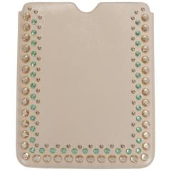 Prada Bejeweled Cream Ipad Cover