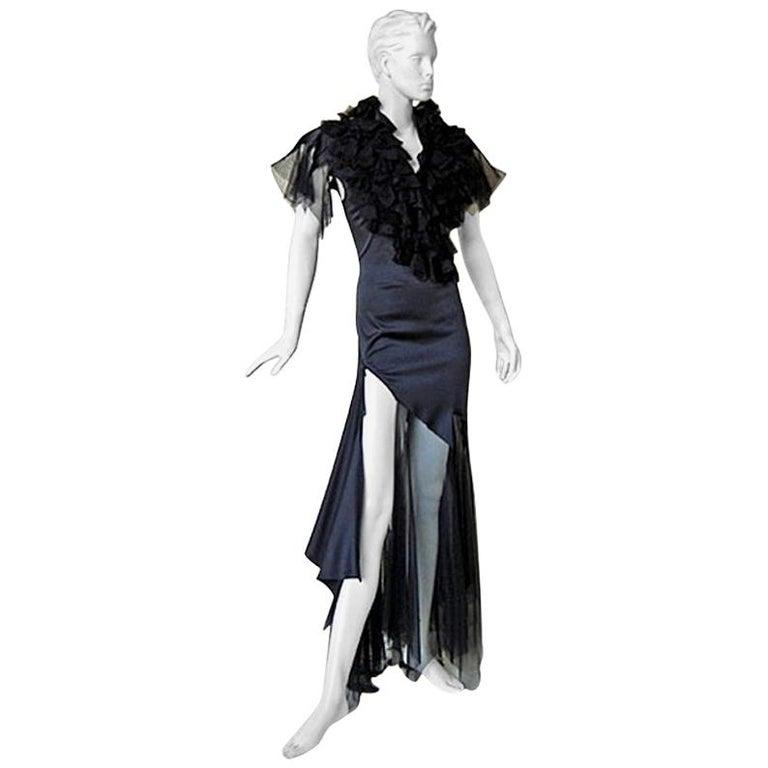 """Alexander McQueen """"What a Merry Go Round"""" Spiral Zipper Evening Dress  NEW For Sale"""
