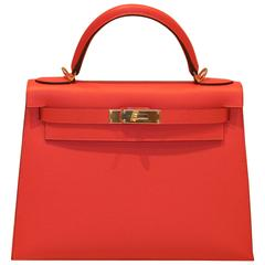 HERMES Kelly Sellier Rouge Jaipur 28'