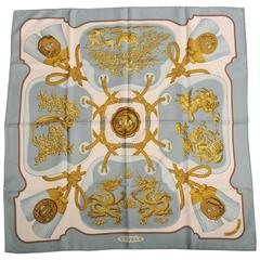Hermes Silk Scarf Tsubas Designed by Christiane Vauzelles with Original Box