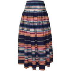 Giorgio Sant'Angelo Sarape Stripe Multicolor Full Skirt, 1980s