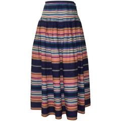 Giorgio Sant'Angelo 1980s Sarape Stripe Multicolor Full Skirt