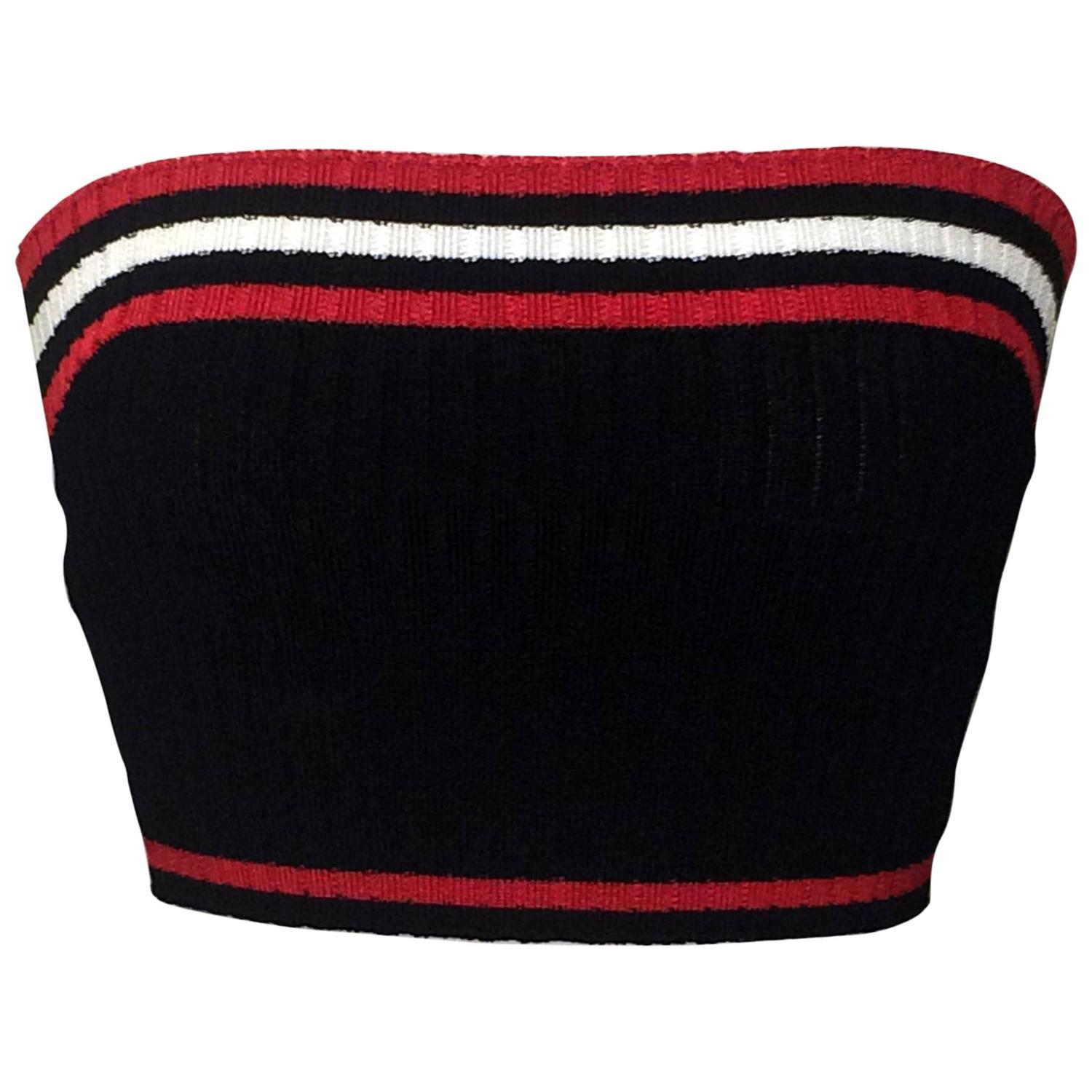 35e90aa0c3 Prada Rib Knit Sporty Red White and Blue Cropped Tube Top at 1stdibs