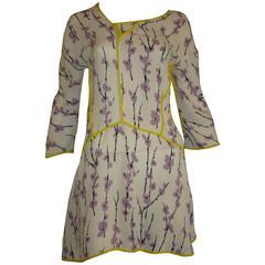 Marni Silk Floral Tunic/Mini Dress (40 ITL)