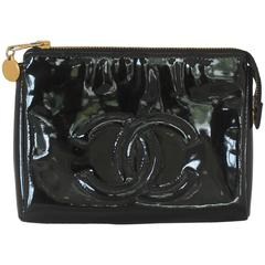 Chanel Black Patent Leather Makeup Case - GHW - Circa 1997