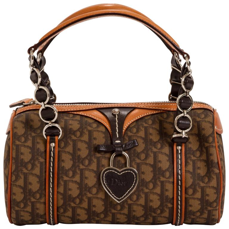 Dior Brown Monogram Barrel Bag For
