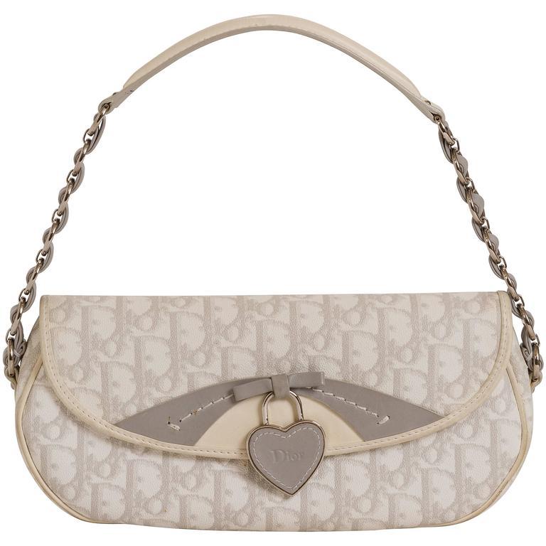 Christian Dior Monogram White Logo Bag