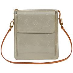 Vuitton Vernis Gray Monogram Bag