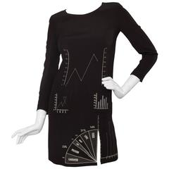 "80s Moschino Cheap & Chic ""Diagram"" Dress"