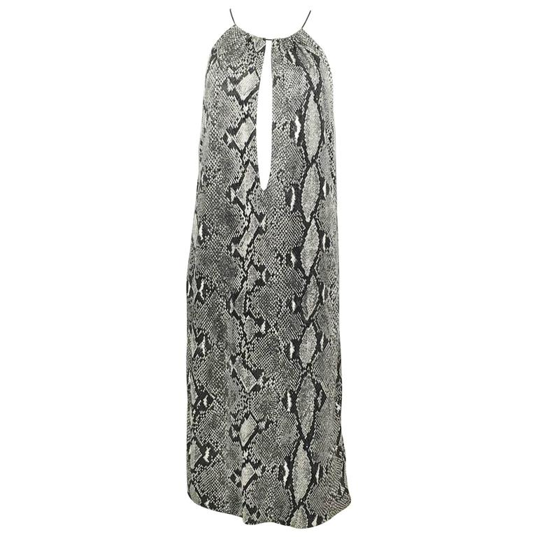 Gucci by Tom Ford Runway Python Print Dress - Circa 2000