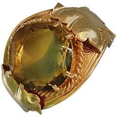 Beautiful Vintage 1970s Sarah Coventry Gold Plated Oversized Rhinestone Bracelet