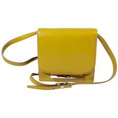 The Row Yellow Leather Crossbody Bag