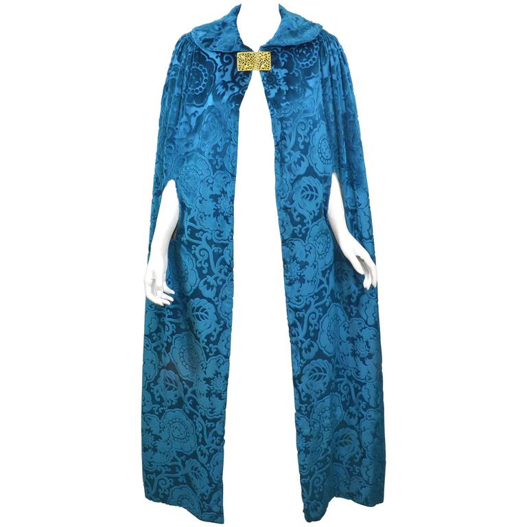 1910 - 1920s Silk Velvet Cape