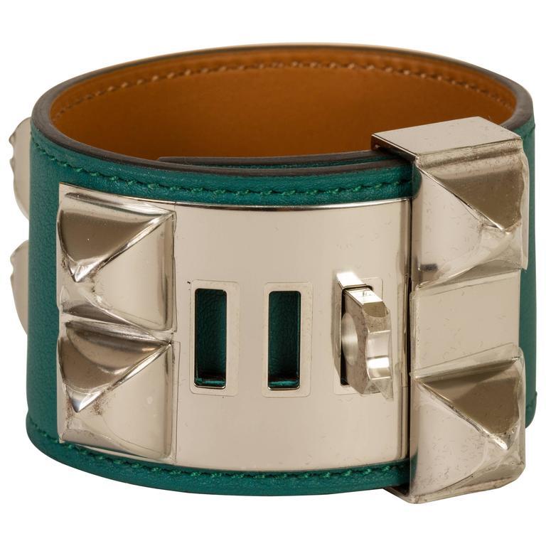 Hermès CDC Malachite Green Cuff Bracelet 1