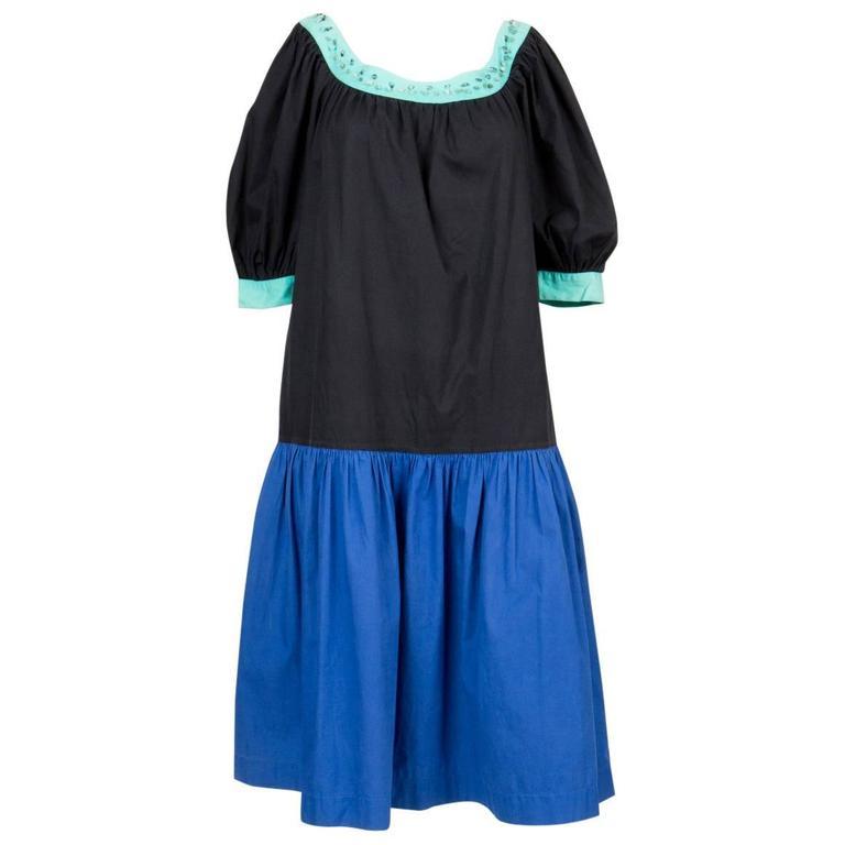 1980s Yves Saint Laurent Multico Dress 1