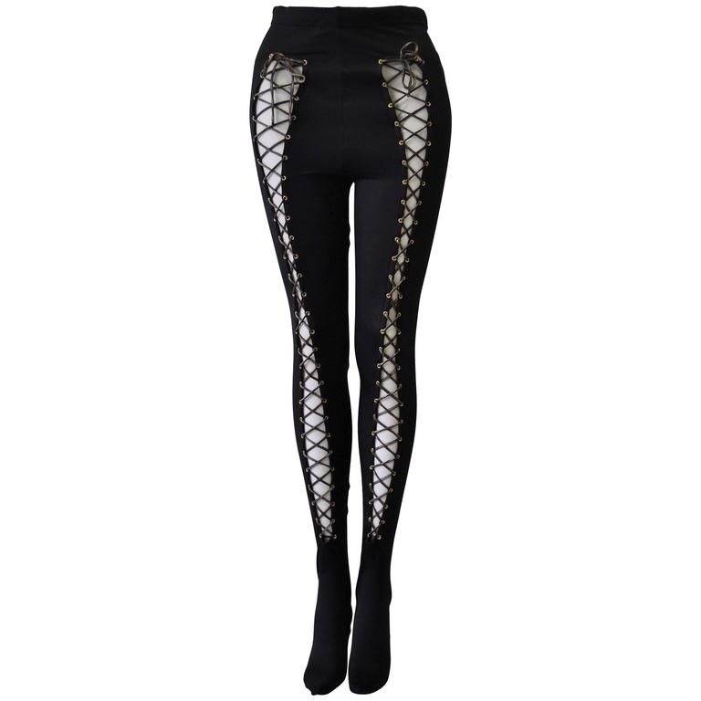 Atelier Versace Bondage Lace-Up Leggings 1