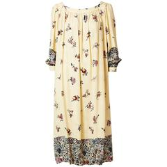 Odicini Printed SIlk Jacquard Day Dress
