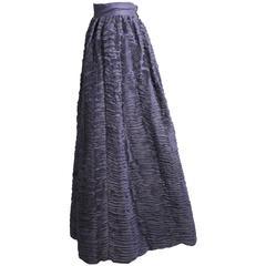 Sybil Connolly Hand Pleated Linen Evening Skirt