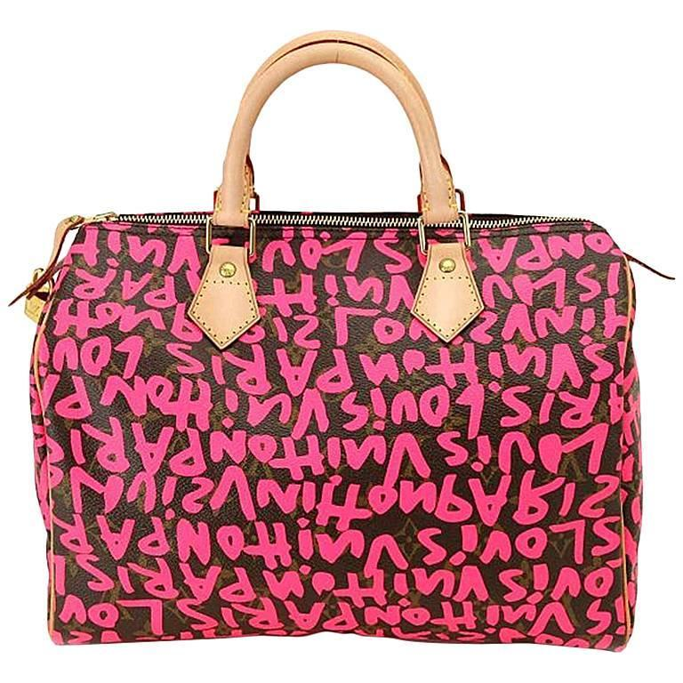 1stdibs Louis Vuitton Speedy 30 Graffiti Green Limited Edition Stephen Sprouse Handbag mTRfg95y7