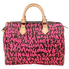 Louis Vuitton Speedy 30 Graffiti Pink Stephen  Sprouse