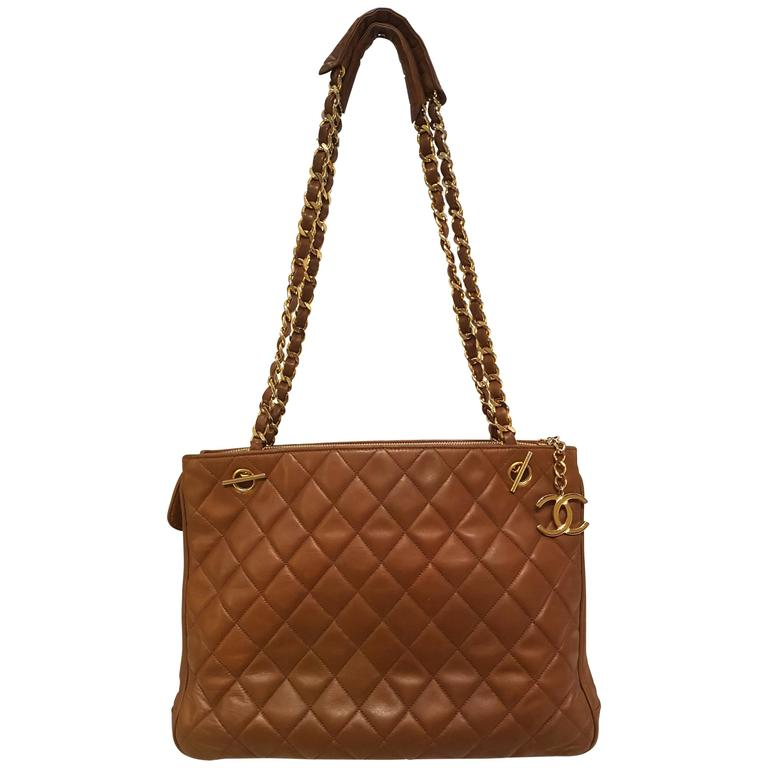 1980s Chanel Brown Shoulder Bag