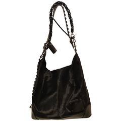 Gucci Black Maxi pony hair shoulder bag