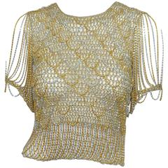 Loris Azzaro Metallic Chain Top