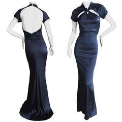 Gucci by Tom Ford Backless Black Silk Dress