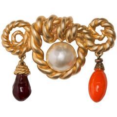 "1990 Chanel Stunning Brooch "" Cordage "" Design By Victoire de Castellane"
