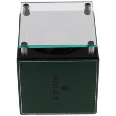 ROLEX Green Leather WATCH WINDER Swiss Made CASE w/ BOX Rare