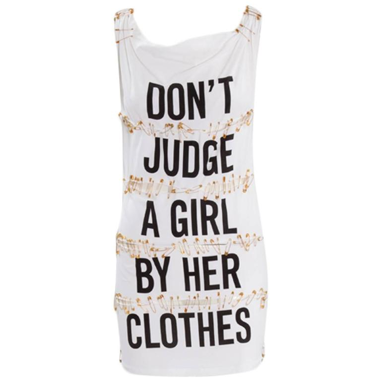 Moschino Cheap & Chic Safety Pin Mini Dress   For Sale