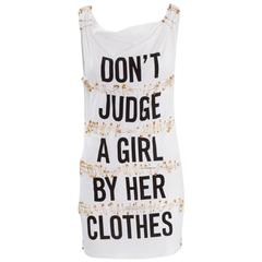 Moschino Cheap & Chic Safety Pin Mini Dress