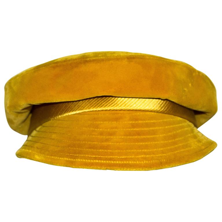 60s Velvet Mr. John Cap  For Sale