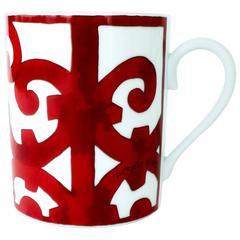 Hermes Balcon du Guadalquivir Porcelain Ceramic Coffee Mug Cup