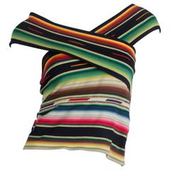 Ralph Lauren Purple Label Silk knit Serape Blanket Top