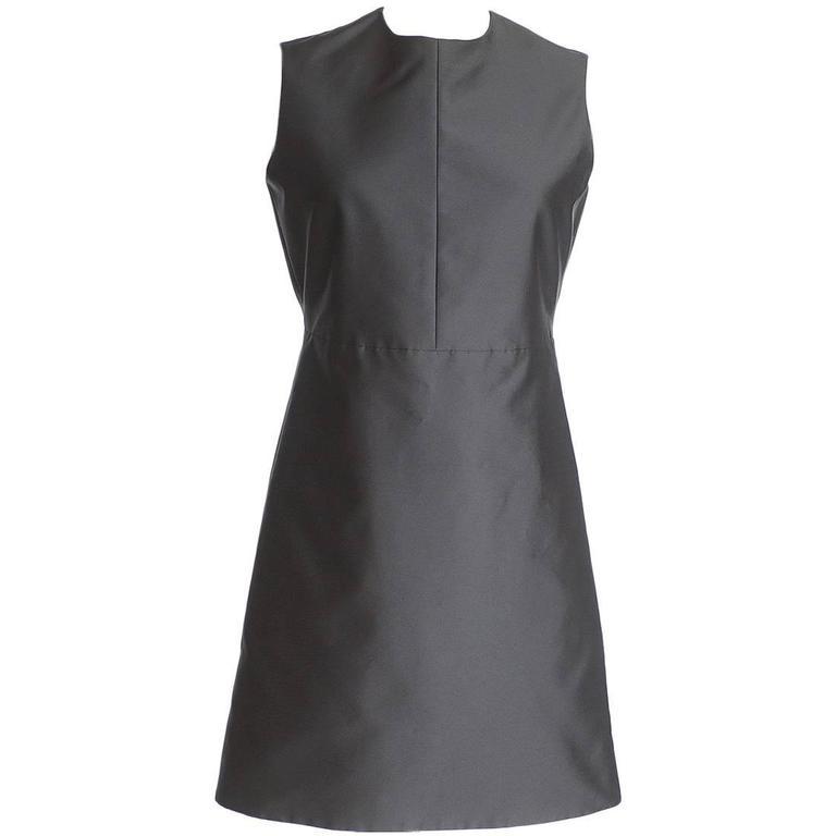 Celine Dress Sleek Modern Black Classic  38 / 4 nwt
