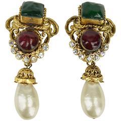 1983  Chanel Maison Gripoix Earrings