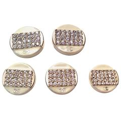 Chanel Rhinestone Enamel Buttons