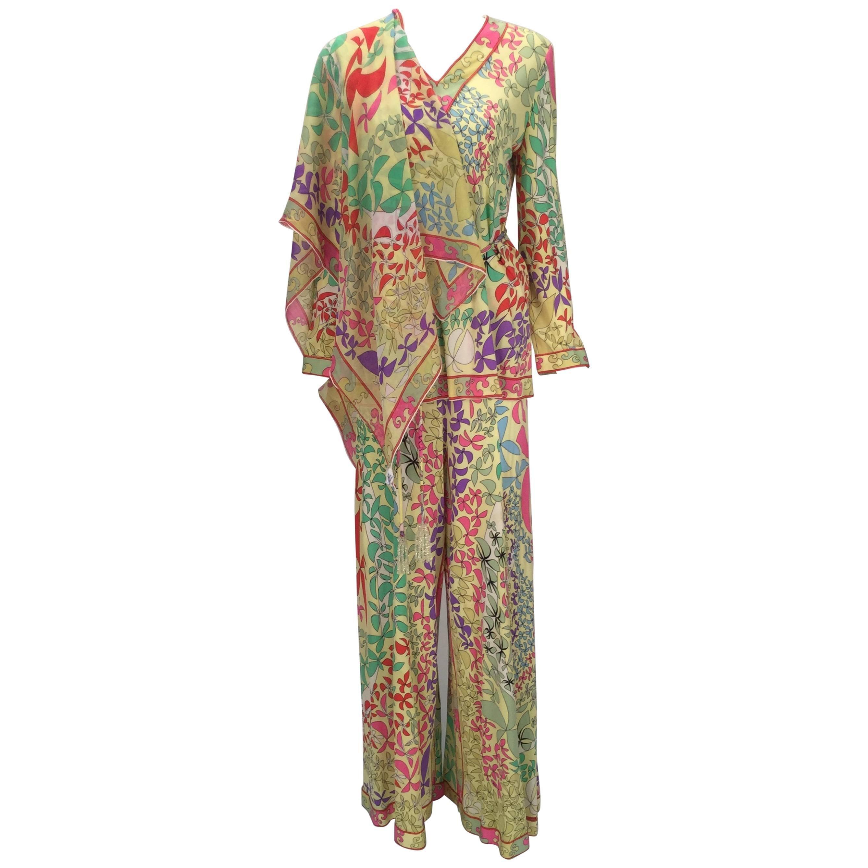 Bessi Multicolored Silk Ensemble, 1970s