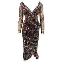 Stunning Jean Paul Gaultier Wrap Dress
