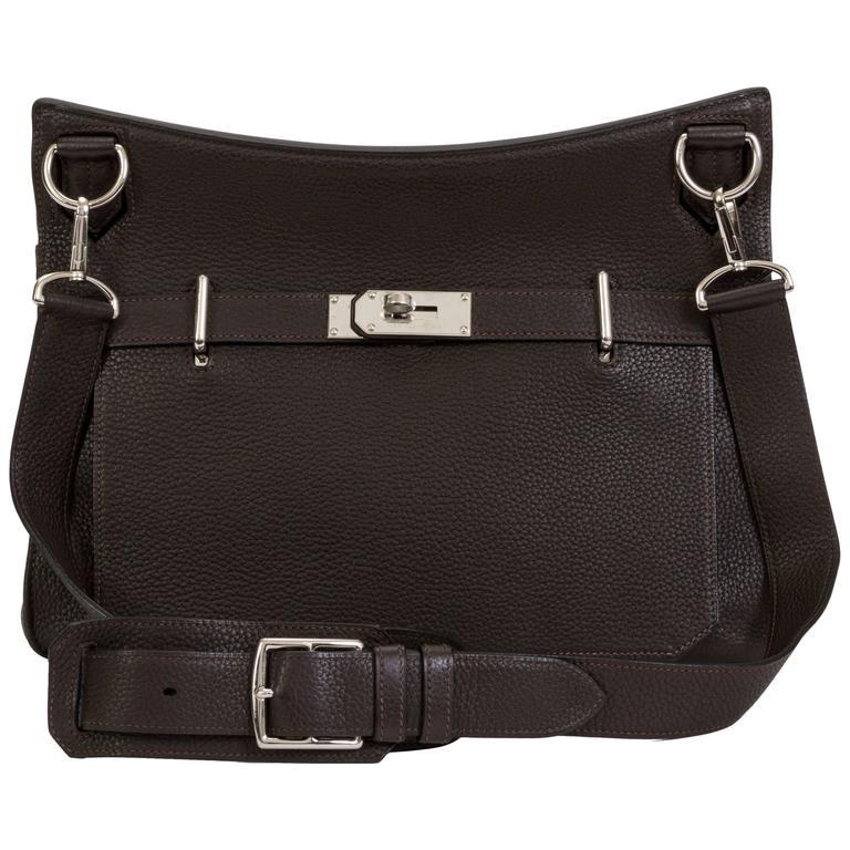 Hermès Jypsiere Brown Togo Bag For Sale