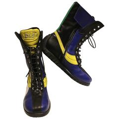 Dolce and Gabbana Multi-colored 1990 Wrestling Boots